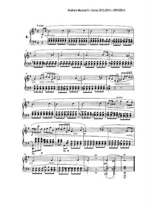 Examen de Selectividad: Análisis musical (partitura 1). Andalucía. Convocatoria Septiembre 2013