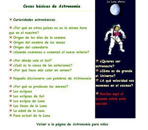 Cosas Básicas de Astronomía  (Astronomía para niños y niñas)
