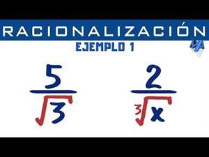 Racionalización de denominadores | Ejemplo 1