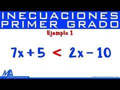Inecuaciones de Primer Grado - Lineales | Ejemplo 1