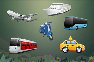 Juegos sobre los transportes para niños de primaria