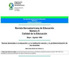 Nuevas demandas a la educación y a la institución escolar, y la profesionalización de los docentes | María Inés Abrile de Vollmer (Revista Iberoamericana de Educación)
