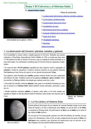 El Universo y el Sistema Solar. Por Joaquín Jiménez Arques