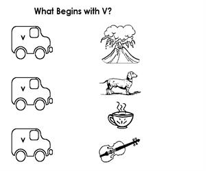 Activity Sheet - Draw a line to V (Educarchile)