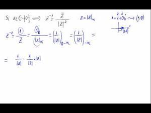 Expresión del inverso de un número complejo (Forma polar)