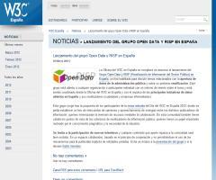 Lanzamiento del grupo Open Data y RISP en España (W3C España)