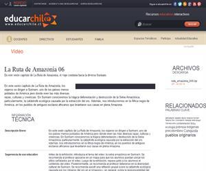 La Ruta de Amazonía 06 (Educarchile)