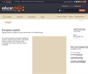European capitals (Educarchile)
