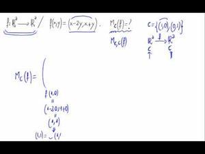 Aplicaciones lineales - Matriz respecto base canónica