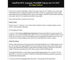 Semantic Web/RDF Library for C#/.NET