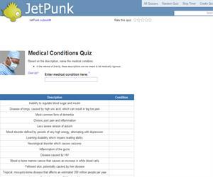Medical Conditions Quiz