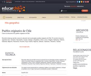 Pueblos originarios de Chile (Educarchile)