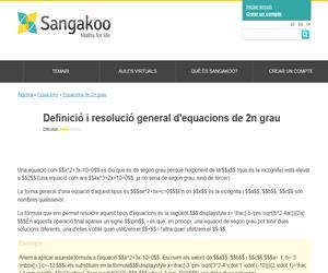 Definició i resolució general d'equacions de 2n grau