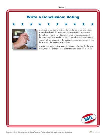 Write a Conclusion: Voting