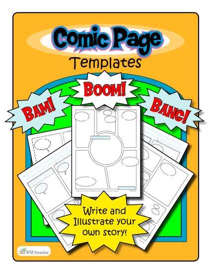 Comic Strip Templates – 5 Designs