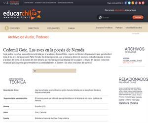 Cedomil Goic. Las aves en la poesía de Neruda (Educarchile)