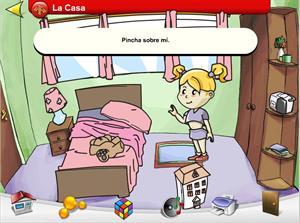 La casa de Lola,  juego para contextualizar elementos comunes.