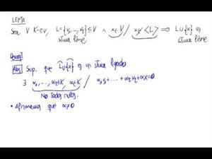Lema. Un sistema libre junto con un vector que no genera es S.L