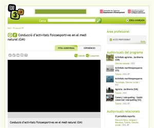 Conducció d'activitats fisicoesportives en el medi natural (GM) (Edu3.cat)