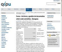 Curso - Archivos y gestión de documentos ante la web semántica