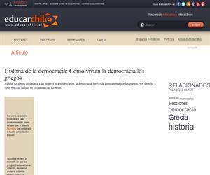 Historia de la democracia: Cómo vivían la democracia los griegos (Educarchile)