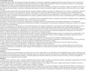 Declaración de las Naciones Unidas sobre la eliminación de todas las formas de discriminación racial