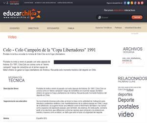 "Colo - Colo Campeón de la ""Copa Libertadores"" 1991 (Educarchile)"