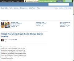 Google Knowledge Graph Could Change Search Forever (Mashable)