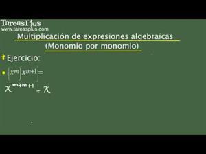 Multiplicación de monomios por monomios y polinomios. Problema 4 de 15 (Tareas Plus)