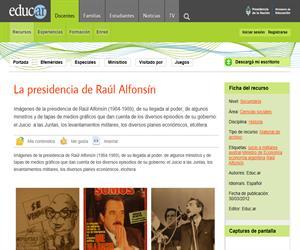 La presidencia de Raúl Alfonsín
