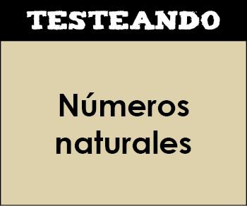 Números naturales. 1º ESO - Matemáticas (Testeando)
