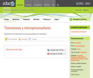 Transistores y microprocesadores