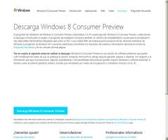Windows 8. Disponible la descarga Consumer Preview