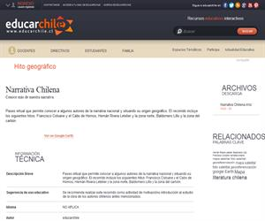 Narrativa Chilena (Educarchile)