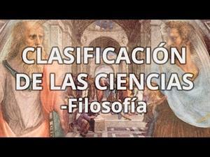 Clasificación de las Ciencias
