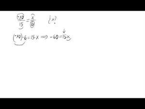 Cálculo de valores para que dos fracciones sean equivalentes