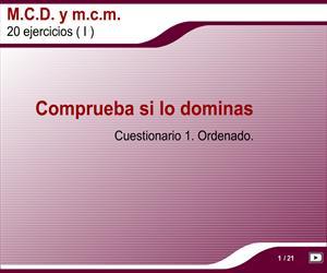 Máximo común divisor y mínimo común múltiplo (Mates y+)