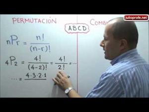 Diferencia entre Permutaciones y Combinaciones (JulioProfe)