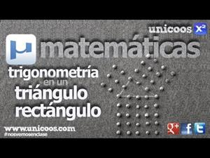 Trigonometría - Resolución de un triangulo rectángulo
