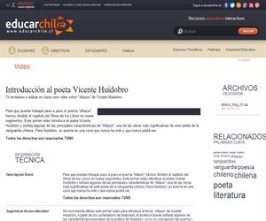 Introducción al poeta Vicente Huidobro (Educarchile)