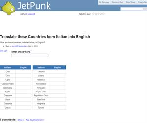 Translate these Countries from Italian into English