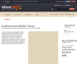 Escultura de Jean Dubuffet, Chicago (Educarchile)