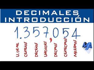 Números decimales 1º ESO