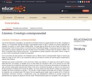 Literatura. Cronología y contemporaneidad (Educarchile)