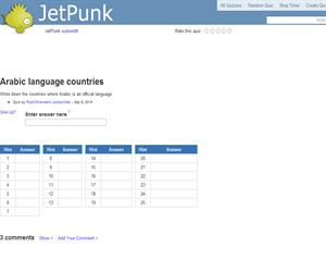 Arabic language countries