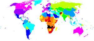 Mapa de esperanza de vida por países (Geografía Plus)