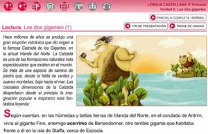 Los dos gigantes (Santillana, lengua 5º primaria)