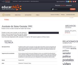 Asesinato de Jaime Guzmán 1991 (Educarchile)
