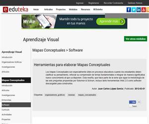 Reseña de Herramientas Web 2.0 para elaborar: Mapas Conceptuales, Mapas de Ideas y Telarañas. Eduteka