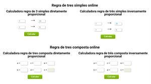 Calculadora Regra de 3 online